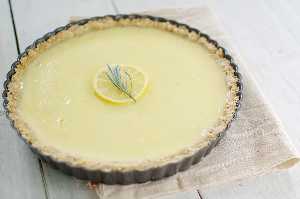 Lemon Tart with Rosemary Crust www.happyolks.com