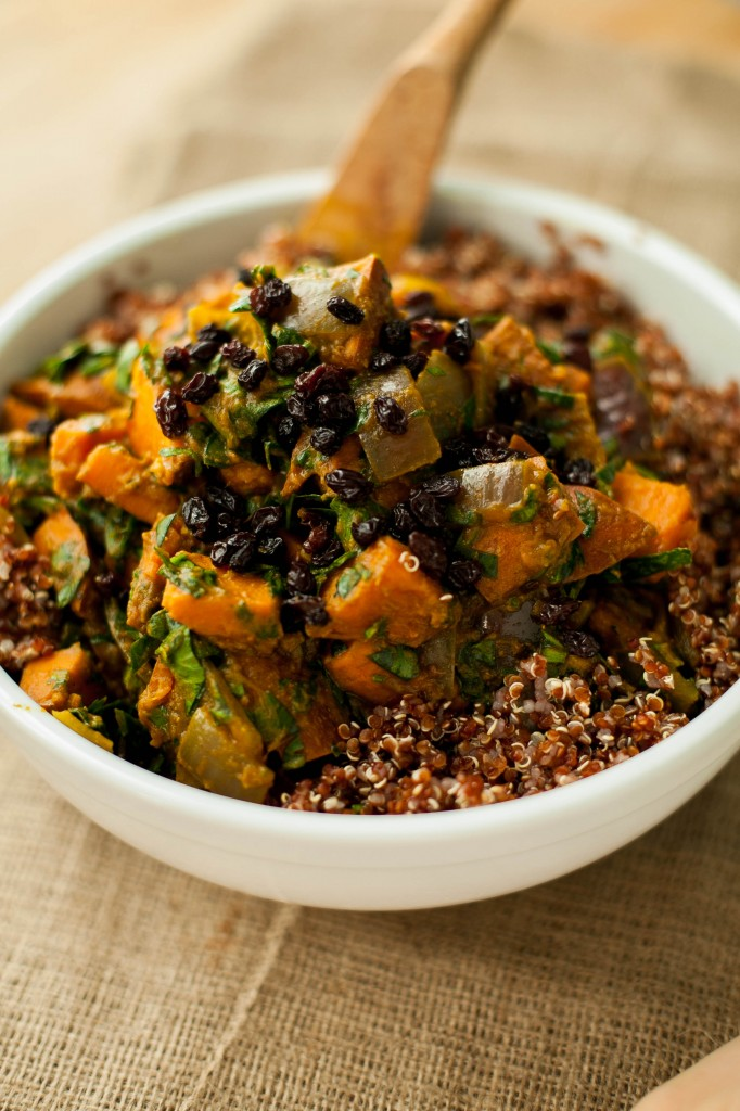 Sweet Potato Curry Quinoa Bowl from Happyolks.com