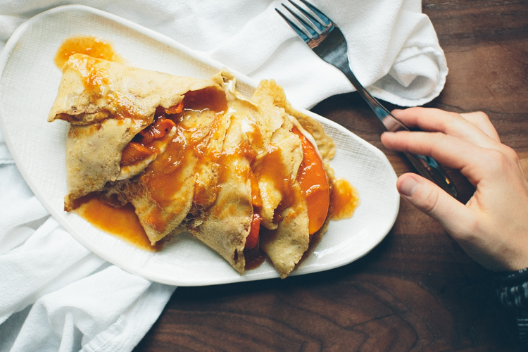 Happyolks | Persimmon Crepes