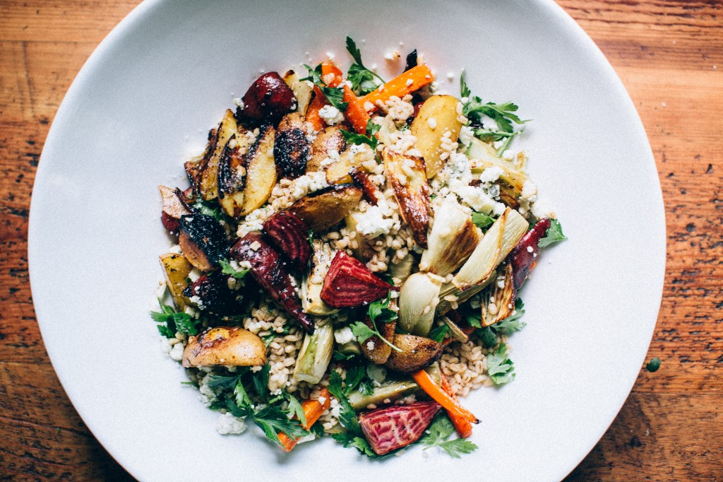 Roasted Vegetable and Pearl Barley Salad