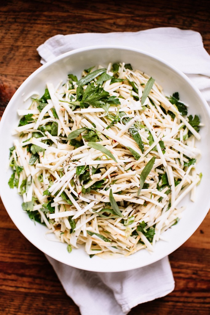 Celery Root Salad with Apple, Caraway, and Horseradish